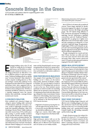 ICF & Concrete Roof Systems Ideal for Supporting Green Roofs - Construction Business Magazine | ICF & More Oklahoma City OK
