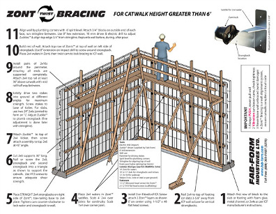 Fab-Form Installation Guide for ICF Wall Construction Over 6' - ICF & More Oklahoma