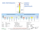 View the HERS Performance Energy Rating Certificate for this ultra energy efficient, tornado resistant ICF home with a HERS Rating of 40!
