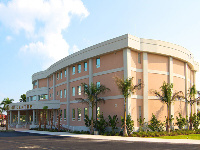 Quad-Lock ICF Hurricane Resistant College of the Bahamas Library plus Emergency Shelter exterior radius walls finished in Nassau, Bahamas - photos by Ben Jamieson Photography - ICF & More, OKC