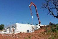 Quad-Lock ICF Tornado Resistant Home in Meridian OK - Walls being poured