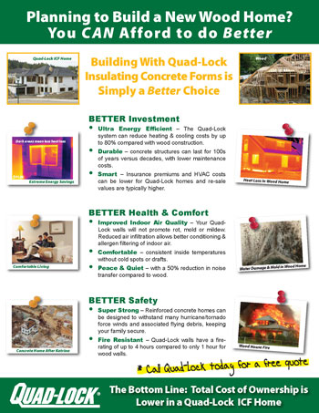 Quad-Lock Insulating Concrete Forms vs. Wood Construction