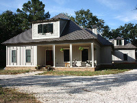 Quad-Lock Insulated Concrete Forms IBHS Fortified for Safer Living Hurricane Rated Home, completed exterior, in Fairhope, AL - ICF & More, OKC
