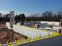 Quad-Lock ICF Durable & Sustainable 2400sqft Home in OKC Third Course set