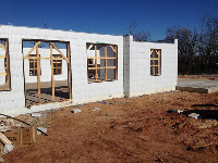 Quad-Lock 2800sqft ICF Home in OKC with lots of Windows - lot of light for this energy efficient home