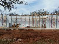 Quad-Lock ICF Walls going up on the Tornado Safe Room for Girl Scouts at Camp Ekowah OK by ICF & More OKC