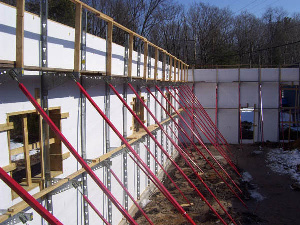Icf Bracing In Oklahoma For Building Insulated Concrete