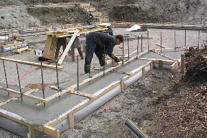 Fab-Form Fastfoot Prevents Concrete Damage, Fabric Formwork for concrete footings and pad edging in OKC